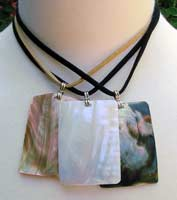 Polished shell necklace
