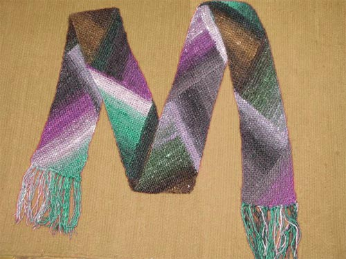 Free Knitting Patterns - Noro Silk Garden Scarf Pattern