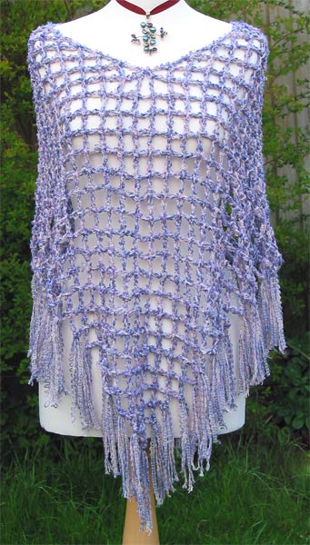 Free Knit & Crochet Poncho & Cap - free on-line knitting patterns