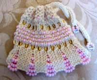 Beaded Drawstring Purse-8 left