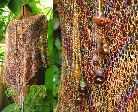 Free Bohemian Poncho Knit Pattern Pictures to pin on Pinterest