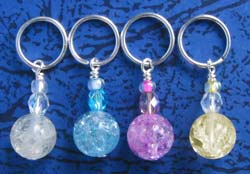 Stitch Markers - Crackled Rock Crystal