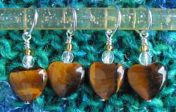 Tigers Eye Stitch Markers