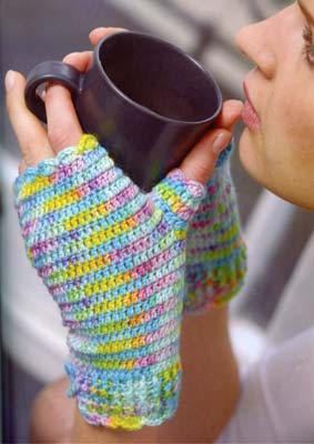 Cable Fingerless Mittens Knitting Pattern