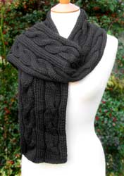 Bronte Cabled Scarf